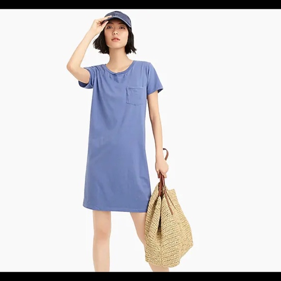 20db471d0d J. Crew Dresses | J Crew Garment Dyed Pocket Tshirt Dress | Poshmark